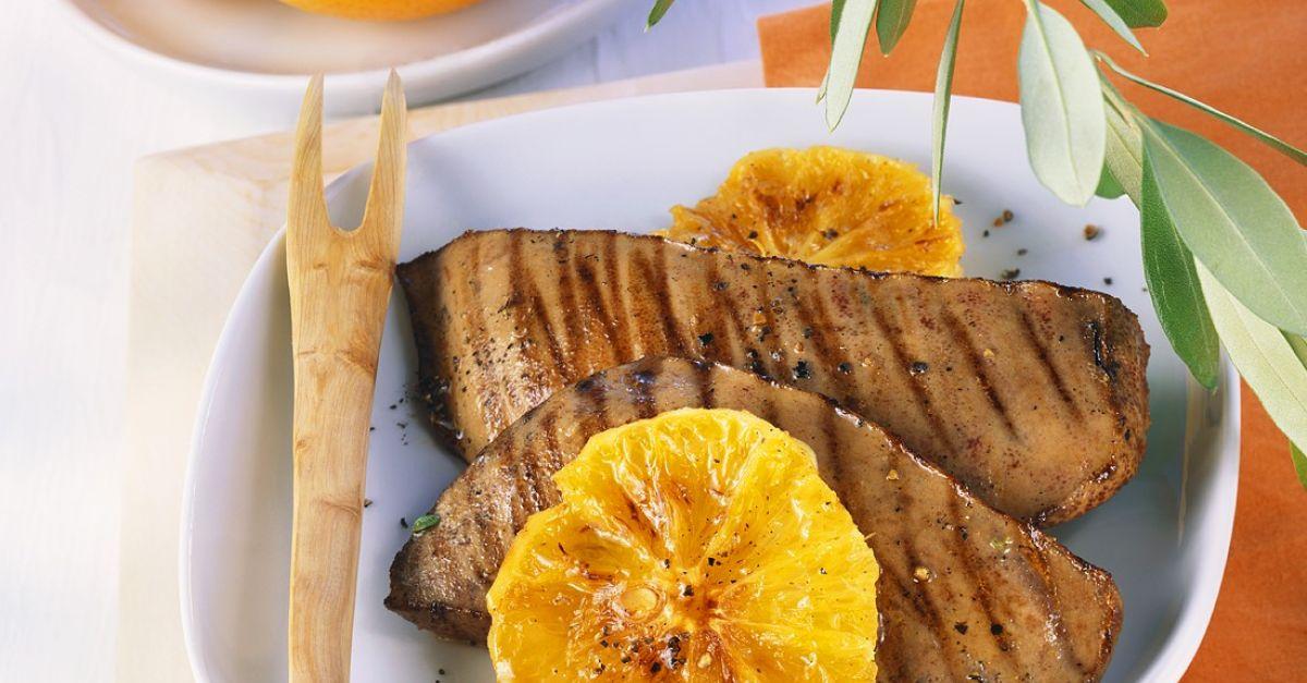Μοσχαρίσιο συκώτι με φέτες ανανά