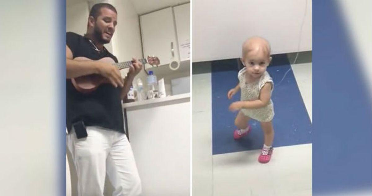 Γιατρός κάνει καντάδα σε κοριτσάκι με καρκίνο κι αυτό χορεύει χαρούμενα!