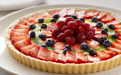 Τάρτα φρούτων με μπισκότα