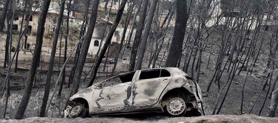 Αποτέλεσμα εικόνας για πυρκαγια αττικη 2018