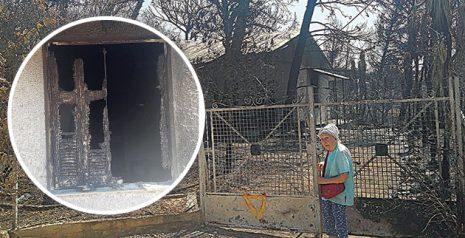 Θεϊκό σημάδι στο σπίτι της Τιτίκας Σαριγκούλη που παραδόθηκε στις φλόγες