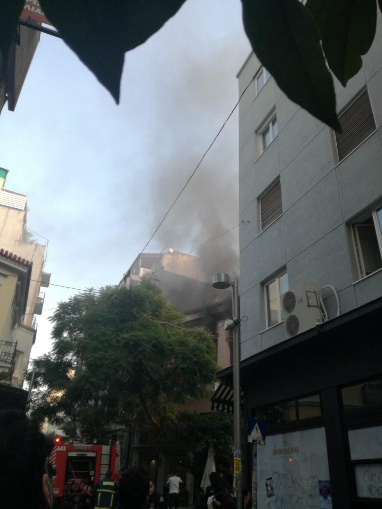 , Αίσιο τέλος για το εστιατόριο που έπιασε φωτιά στο κέντρο της Αθήνας