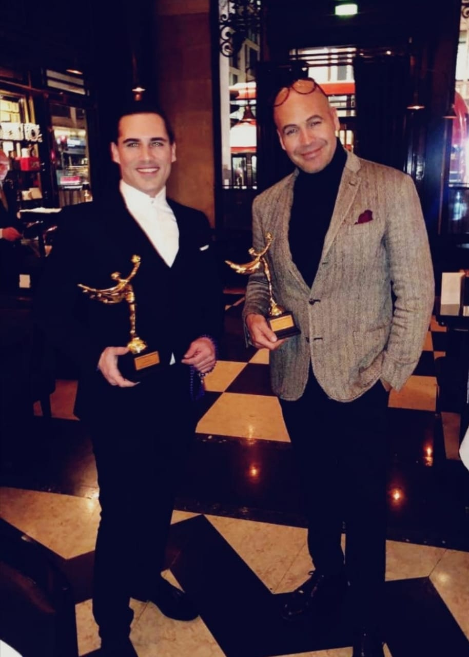 Ο Άνθιμος Ανανιάδης στα 2019 Gold Movie Awards στο Regent Street Cinema στο Λονδίνο