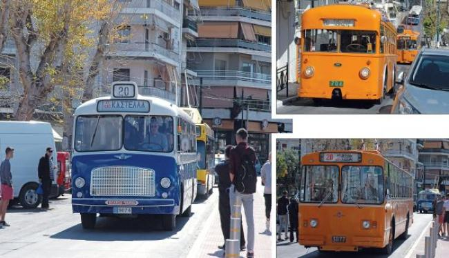 Βόλτα στον Πειραιά με ιστορικά λεωφορεία και τρόλλεϋ την Κυριακή των Βαίων 21/4