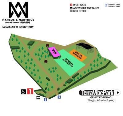 , MARCUS & MARTINUS:Παρασκευή 21 Ιουνίου 2019 Terra Vibe Park