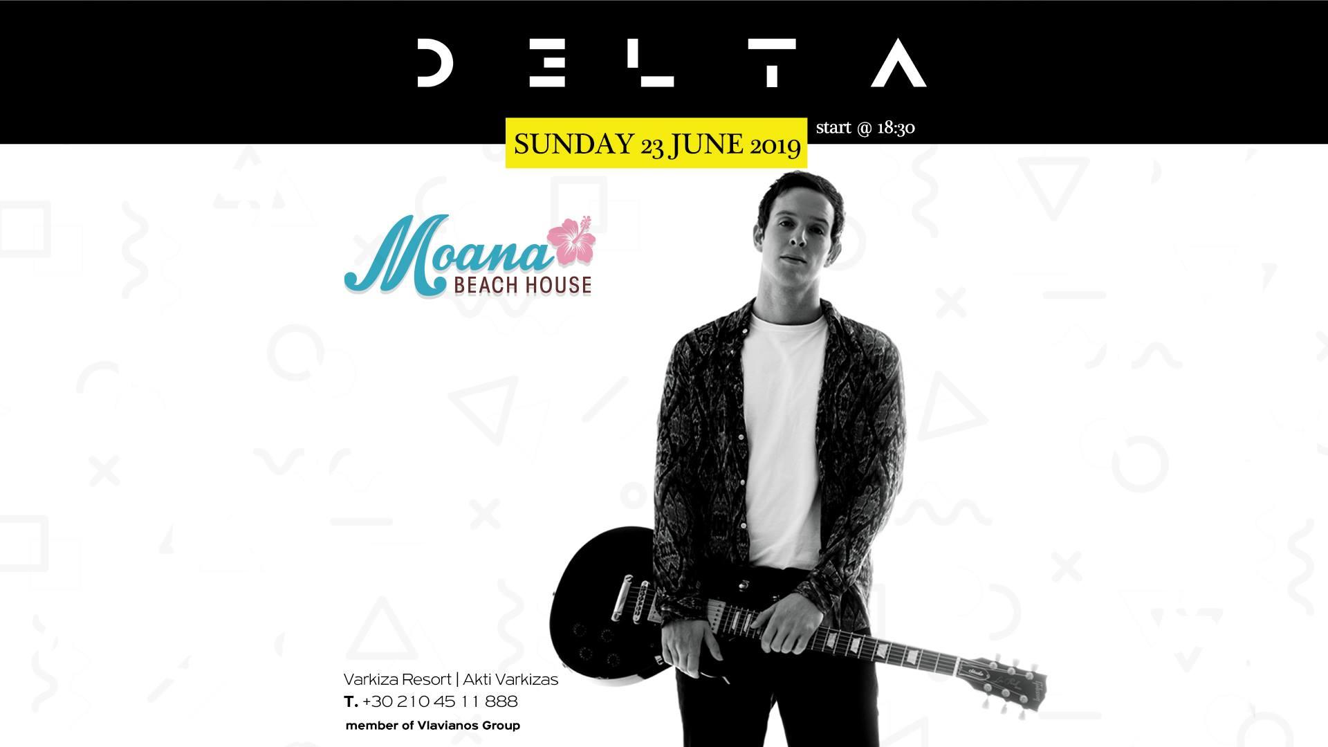 Ο D3LTA σε ένα άκρως καλοκαιρινό live στο Moana Beach House!