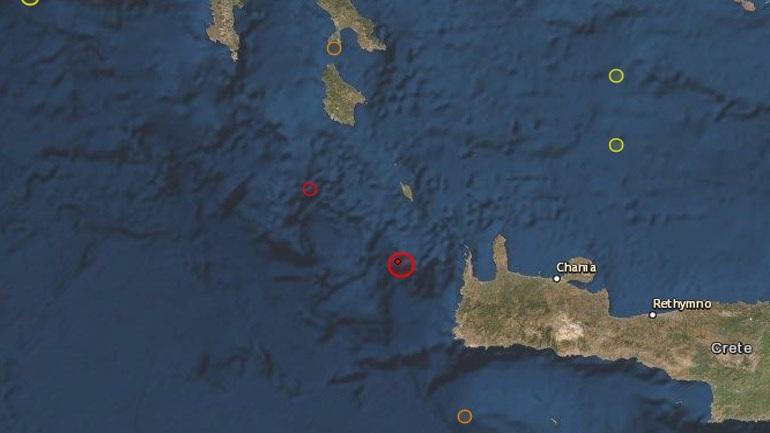 , Έκτακτο: Σεισμική δόνηση 6.1 Ρίχτερ νοτίως των Κυθήρων | Αισθητός στο μεγαλύτερο μέρος της Ελλάδας