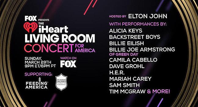 """Συναυλία «Μένουμε Σπίτι» : """"Living Room Concert for America"""" με μεγάλα αστέρια της μουσικής"""