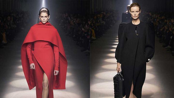 PFW: Οι κάπες και οι έντονοι ώμοι έκλεψαν την παράσταση στο show του Givenchy